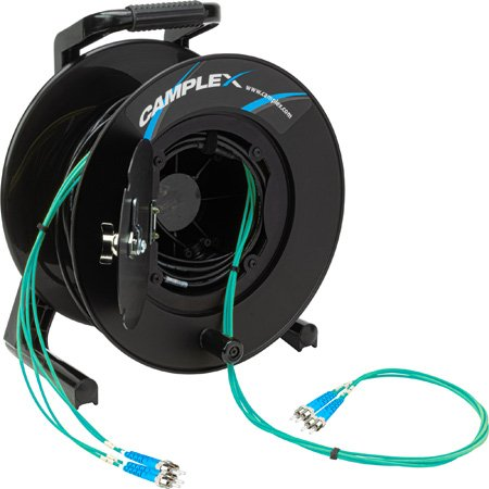 Camplex 4-Channel ST Multi Mode OM3 Fiber Optic Tactical Reel - 500 Foot
