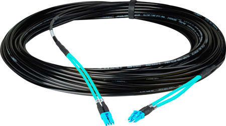 Camplex 2-Channel OM3 Multimode LC/LC Fiber Optic Tactical Snake Cable 500 Foot