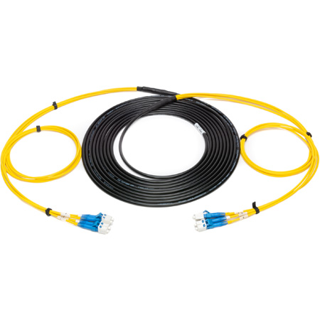 Camplex 4-Channel LC-Single Mode Tactical Fiber Optical Snake - 100 Foot
