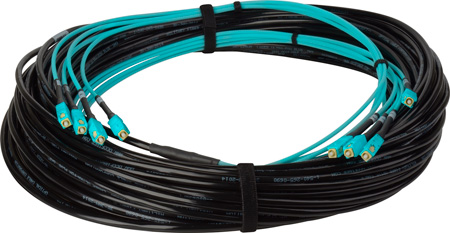 Camplex 4-Channel SC Multi Mode OM3 Fiber Optic Tactical Snake - 300 Foot