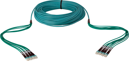 Camplex 8-Channel LC Multi Mode OM3 Fiber Optic Tactical Snake 1000 Foot