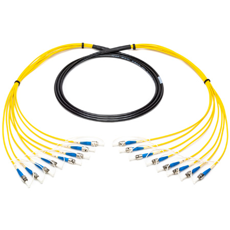 Camplex 8-Channel ST-Single Mode Tactical Fiber Optical Snake- 500 Foot