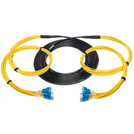 Camplex 12-Channel LC-Single Mode Tactical Fiber Optical Snake- 1250 Foot