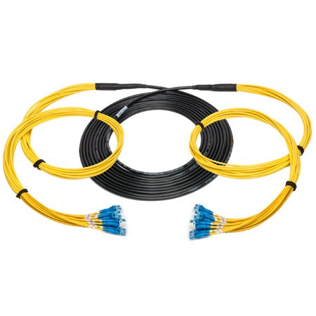 Camplex 12-Channel LC-Single Mode Tactical Fiber Optical Snake- 500 Foot