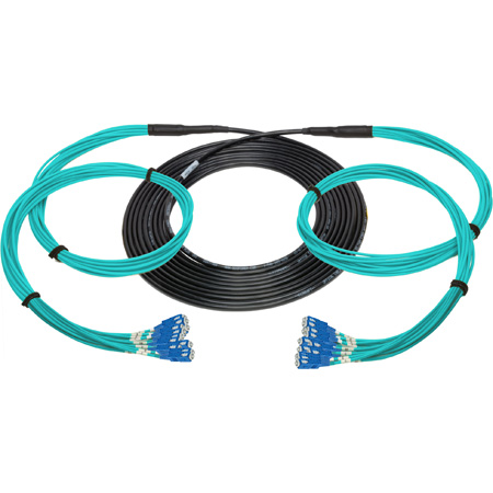 Camplex 12-Channel SC Multi Mode OM3 Fiber Optic Tactical Snake - 150 Foot
