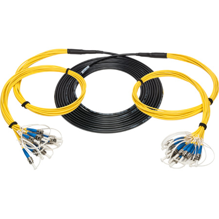 Camplex 12-Channel ST-Single Mode Tactical Fiber Optical Snake- 750 Foot