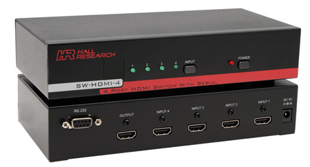 Hall Research SW-HDMI-4 HDMI 4-Port Switch