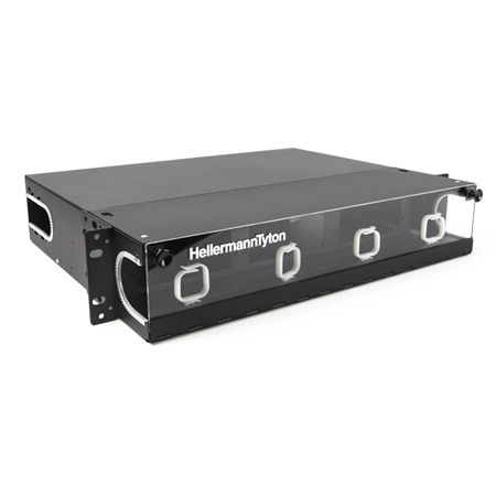 HellermannTyton FERM2U Rack Mount Fiber Enclosure-Unloaded Accepts 6 Panels 2U