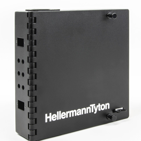 HellermannTyton FEWM6 Wall Mount Fiber Enclosure - Unloaded Accepts 1 Panel