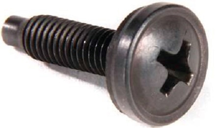 Middle Atlantic HW100 Trim Head Classic Style 10-32 Rack Screws & Washers Black - 100 Pack