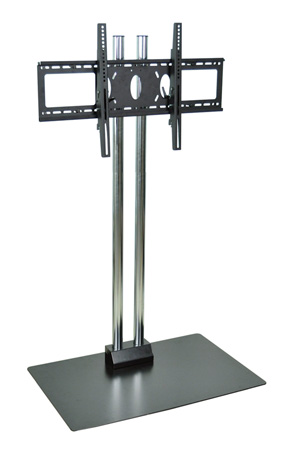Wilson WPSMS62CH Stationary Chrome TV Stand for 37 to 62-Inch Displays