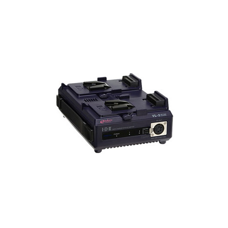 IDX VL-2PLUS 2-Channel Sequential V-Mount Quick Charger with 60W AC Adaptor