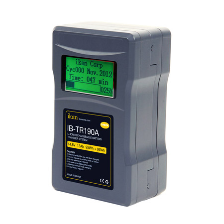 ikan IB-TR190A 190Wh 2-Piece Professional Battery w/ Display - AB Mount