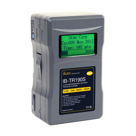 ikan IB-TR190S 190Wh 2-Piece Professional Battery w/ Display - V-Mount