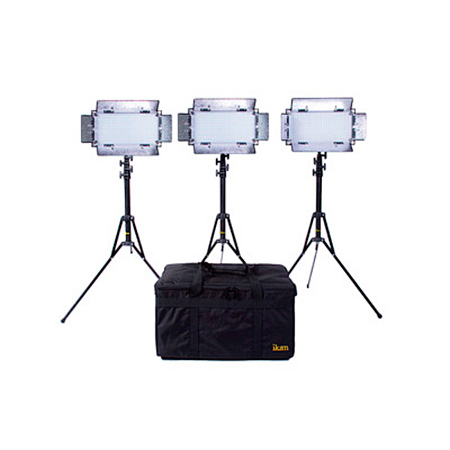 ikan IB508-V2-KIT Kit with 3 x IB508-v2 Bi-color LED Studio Light