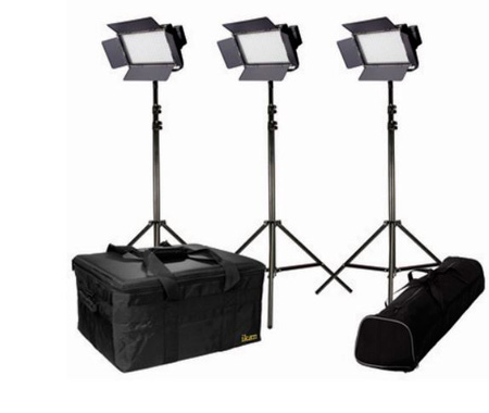 ikan IFB576-KIT - 3 x IFB576 Lights w/AB and Sony V-Mount Battery Plates
