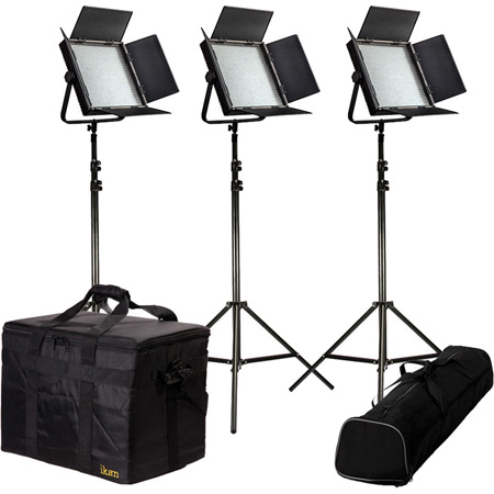 ikan IFD1024-KIT Kit with 3 X IFD1024 Lights w/AB and Sony V-Mount Battery Plates