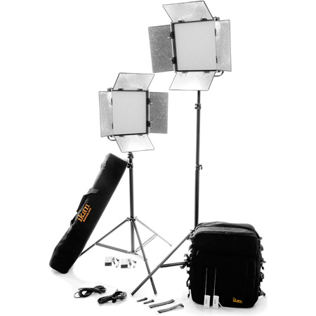 ikan IFD1024-2PT-KIT Kit with 2 X IFD1024 Lights w/AB and Sony V-Mount Battery Plates