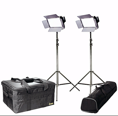 ikan IFD576-2PT-KIT Kit with 2 X IFD576 Lights w/AB and Sony V-Mount Battery Plates