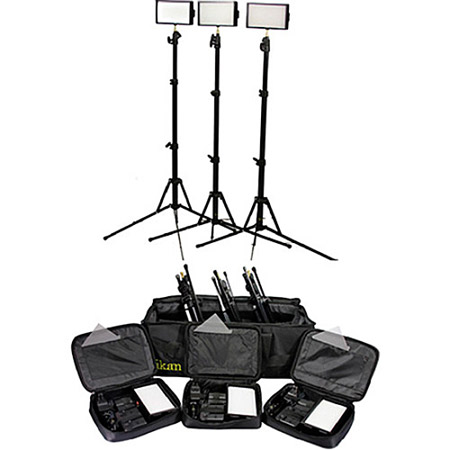 ikan iLED312-v2-KIT- 3-Point Light Kit w/ Stands and Bag