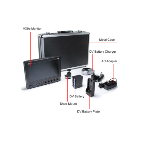 ikan VX9E-C-DK 8.9 Inch HD-SDI LCD Monitor Deluxe Kit for Canon