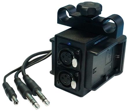 IndiPro Tools BMCPALPE6 Power Grid & XLR Audio Box for Blackmagic Cinema Camera