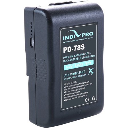 IndiPro Tools PD78S Compact 78Wh V-Mount Li-Ion Battery