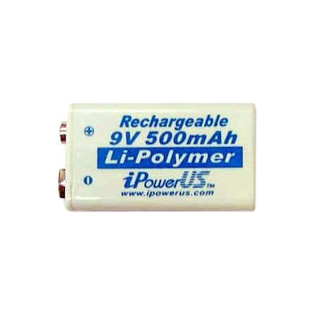 iPower Lithium-Polymer 520 mAh PRO 9 Volt Battery