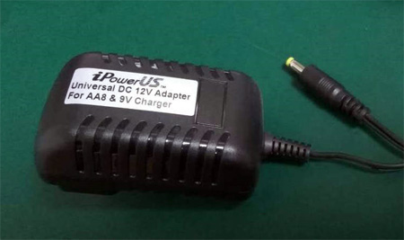 iPower DC12V-AA8-9V Universal DC 12 Volt 2 Amp AC MAINS Adapter for AA8 and 9V Chargers