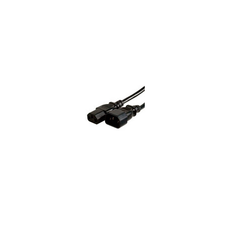 4ft 18 AWG Computer Power Extension Cord - Black