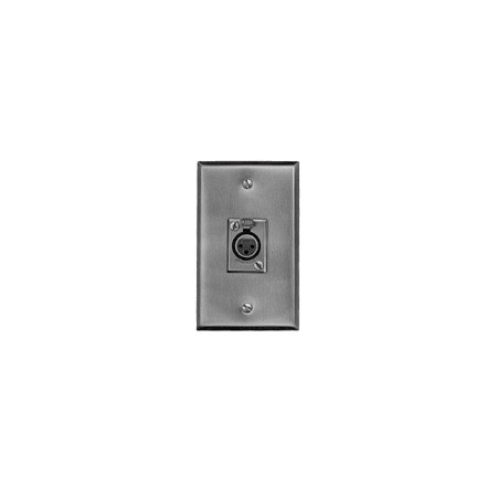 Switchcraft J3FS Wall Plate - w/ One D3F - Vertical
