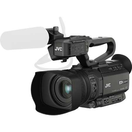 JVC GY-HM170U Camcorder with Battery and AC Power Supply