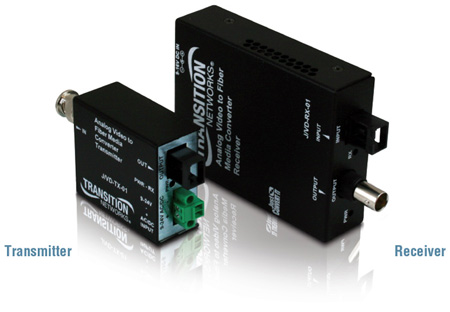 Transition Networks Analog CCTV Just Convert It Composite BNC 75 Ohm to Multimode SC 1Km- Rx
