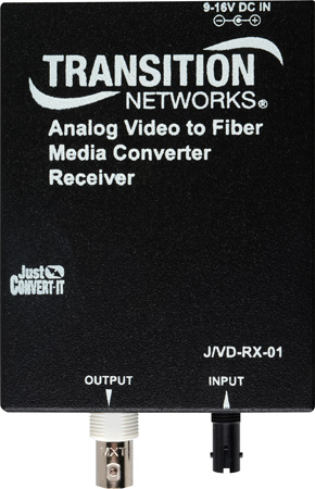 Transition Networks Analog CCTV Just Convert It Composite BNC 75-Ohm to SM ST 10Km- Rx