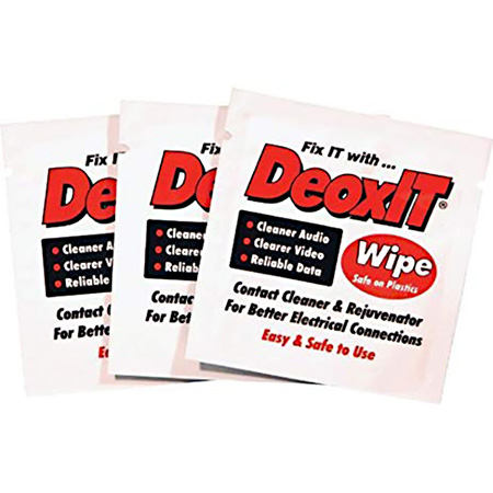 CAIG Laboratories DeoxIT Wipes 100 Percent - 25 Individual Packs