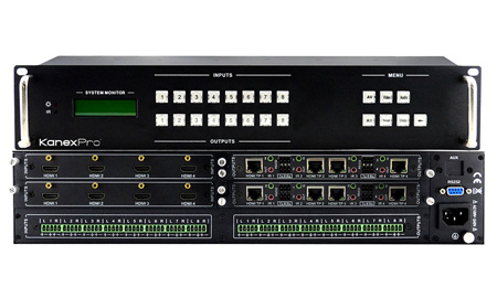 KanexPro HDBASE8X8 Professional 8x8 HDMI to HDBaseT Matrix Switcher