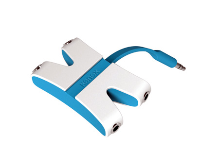 Kanex KAUXFX4BL JamFly 3.5mm Stereo 4-way Splitter (Blue)