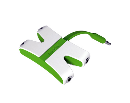 Kanex KAUXFX4GN JamFly 3.5mm Stereo 4-way Splitter (Green)