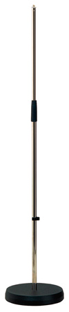 K&M 260 Microphone Stand - Cast Iron Round Base - Nickel