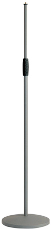 K&M 26010 Microphone Stand - Cast Iron Round Base -Soft Touch - Gray