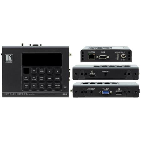 Kramer 860 4K60 4:4:4 HDCP 2.2 HDMI 2.0 6G Signal Generator & Analyzer