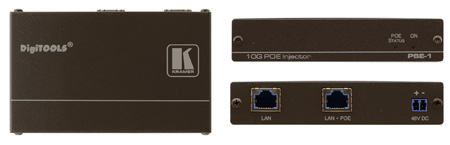 Kramer PSE-1 10Gb UHD Power Over Ethernet Injector