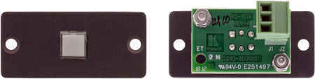 Kramer RC-10TB(B) Wall Plate Insert with 1-Button Contact Closure Switch - Black