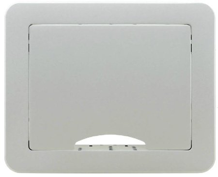 Kramer TBUS-1AXL(BC) Table Mount Modular Multi-Connection Solution - Tilt-Up Lid - Brushed Clear Aluminum Top