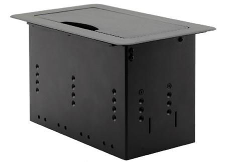 Kramer TBUS-4XL Table Mount Modular Multi Connection Solution - Tilt Up Lid - Black