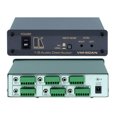 Kramer VM-50AN 1x5 Audio With Balanced and Unbalanced Outputs