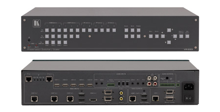 Kramer VP-553 - Boardroom Presentation Switcher/Dual Scaler
