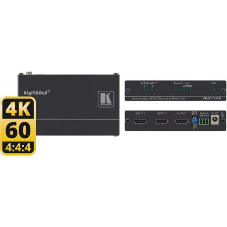 Kramer VS-211H2  2x1 Automatic 4K UHD HDMI Standby Switcher