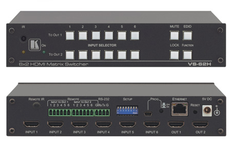 Kramer VS-62H 6x2 4K UHD HDMI Matrix Switcher