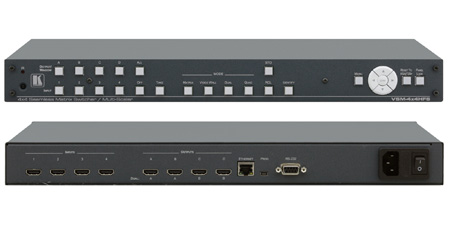 Kramer VSM-4x4HFS 4x4 Seamless HDMI Matrix Switcher/Multi-Scaler